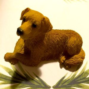 Dog figurine small very detailed always behaves